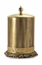 Вёдра с педалью Дровницы Вёдра. Ведро для мусора бронза-золото с крышкой круглое с декором