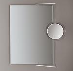 Зеркала косметические с подсветкой увеличением настенные настольные Зеркала с присосками. Зеркало для ванной настенное REC-3 Decor Walther