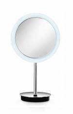 Зеркала косметические с подсветкой увеличением настенные настольные Зеркала с присосками. Зеркало косметическое с увеличением 1х3 настольное с LED подсветкой Lineabeta