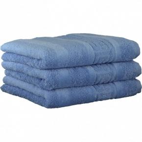 """Хлопковые полотенца.          Полотенце CAWO """"Nobless"""" 1001 Голубой"""