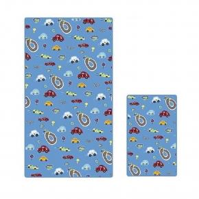 Текстиль для детей: полотенца, халаты, постельное бельё и др.. Полотенце банное Race Track с рисунком BPR-109-RTR-BLU