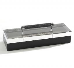 Боксы для часов и украшений Шкатулки Deluxe. Шкатулка Black с кожаной ручкой 11 х 35 см