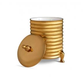 Подсвечники Deluxe. Подсвечник с парфюмированной свечой Canister Gold
