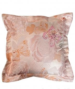 Декоративные подушки Deluxe. Декоративная подушка Perla (50х50) Розовый от Blumarine art. 71787