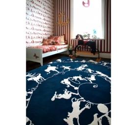 Ковры для дома Deluxe. Ковер Circus Silhouettes Blue