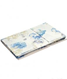Постельное бельё Deluxe. Постельное белье с пододеяльником  Isabel (Изабель) сине-голубые цветы арт. 76427 от Blugirl