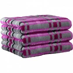 """Хлопковые полотенца.          Полотенце CAWO """"Cubes"""" 1062 Розовый-серый"""