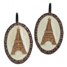 Шторки для душа и ванны текстильные. Набор из 12 крючков для шторки I Love Paris ILP83MULT