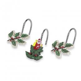 Шторки для душа и ванны текстильные. Набор из 12 крючков для шторки Spode Christmas Tree 11523G