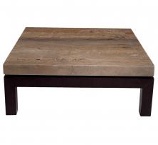 Журнальные Приставные Кофейные столы. Стол кофейный Walnut travertine