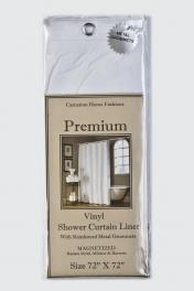 Шторки для душа и ванны текстильные. Защитная шторка Premium 4 Gauge White белая