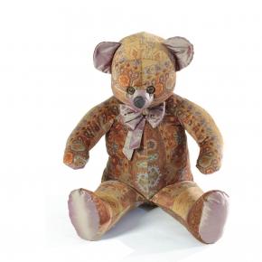 Мягкие декоративные игрушки Deluxe. Мишка (мягкая игрушка) в текстиле с терракотовым узором (60 см)
