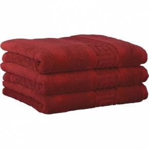 "Хлопковые полотенца.          Полотенце CAWO ""Nobless"" 1001 Бордо"