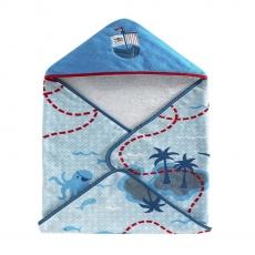 Текстиль для детей: полотенца, халаты, постельное бельё и др.. Полотенце банное с уголком детское Bambini Hooded Pirates BHD-PRT-MUL