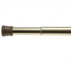 Шторки для душа и ванны текстильные. Карниз для ванной Standard Tension Rod Brass TSR-64
