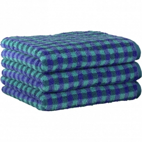 "Хлопковые полотенца.          Полотенце CAWO ""Allover"" 531 Лазурный"