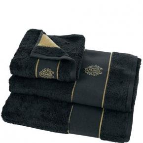 Полотенца хлопковые Deluxe. Комплект полотенец 3-х предметный (для рук 40х60, тела 60х110 и банное 100х150) Gold New (Голд Нью) Черный