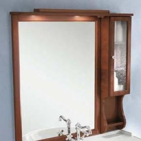 Зеркала для ванной. Eban Зеркало в раме со шкафчиком правым Arianna/Eleonora/Federica