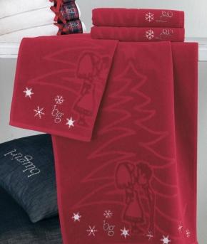 Полотенца хлопковые Deluxe. Комплект полотенец 1+1 Auguri от Blugirl Art.78584
