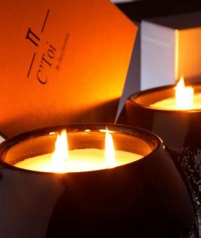 Ароматические свечи Парфюм для дома Диффузоры. Ароматическая свеча большого размера Coeur de Lune золото от C'Toi