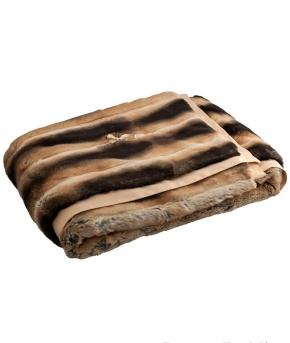 . Плед-покрывало Cincilla (140х190) и две декоративные подушечки от Blumarine Коричневый  art.61115-71804-71805-10
