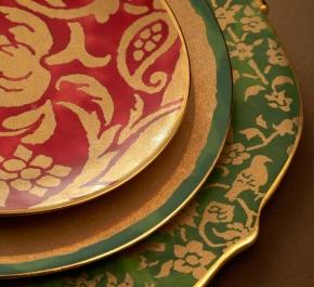 Посуда Столовые приборы Декор стола Deluxe. Набор из 4-х десертных тарелок  Fortuny Uccelli