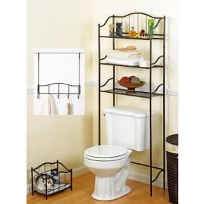 Этажерки для ванной. Набор держателей для аксессуаров и полотенец Complete Bath Series 20060-ORB этажерка