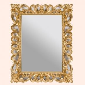 Зеркала для ванной. EBAN Зеркало QUEEN 95x75см золото