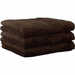 """Хлопковые полотенца.          Полотенце CAWO """"Nobless"""" 1001 Коричневый"""