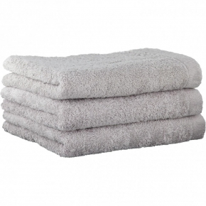 "Хлопковые полотенца.          Полотенце CAWO ""Life Style"" 7007 Серебро"
