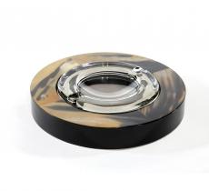 Пепельницы Зажигалки Deluxe. Пепельница круглая с отделкой рогом (28 см)