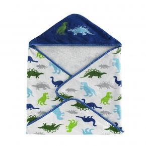 Текстиль для детей: полотенца, халаты, постельное бельё и др.. Полотенце банное с уголком детское Bambini Hooded Dino Park BHD-DP-MUL