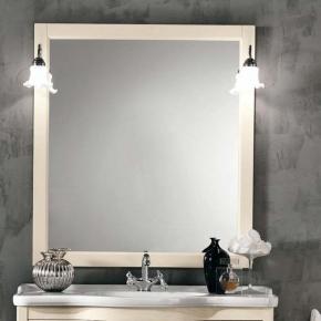 Зеркала для ванной. Eban Зеркало в раме Arianna/Eleonora/Linda/Federica 96x106h pergamon