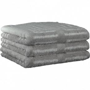 """Хлопковые полотенца.          Полотенце CAWO """"Jacquard"""" 1066 Светло-серый"""