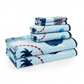 Текстиль для детей: полотенца, халаты, постельное бельё и др.. Полотенце банное Pirates с рисунком BPR-109-PRT-MUL