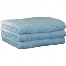 "Хлопковые полотенца.          Полотенце CAWO ""Life Style"" 7007 Голубой"