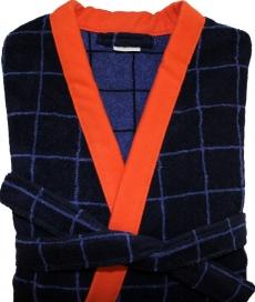 Халаты Одежда для бани и сауны Deluxe. Халат мужской кимоно (L; XL) Carreau Nuit (Каро Нуи) от Kenzo
