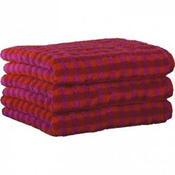 """Хлопковые полотенца.          Полотенце CAWO """"Allover"""" 531 Малиновый"""