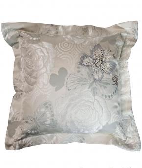 Декоративные подушки Deluxe. Декоративная подушка Perla (50х50) Серый от Blumarine art. 71787