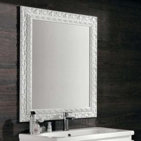 Зеркала для ванной. Eban Зеркало Barocco 98х70 bianco