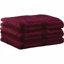 "Хлопковые полотенца.          Полотенце CAWO ""Jacquard"" 1066 Фуксия"