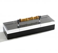 Боксы для часов и украшений Шкатулки Deluxe. Шкатулка Black с бамбуковой ручкой 11 х 35 см