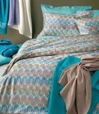 Постельное бельё Deluxe. Постельное белье королевское Odette (240×220) с наволочками 70х70 Голубой от Missoni