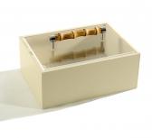 Боксы для часов и украшений Шкатулки Deluxe. Шкатулка Leather box with bamboo lid by Riviere
