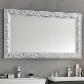 Зеркала для ванной. Eban Зеркало в раме Olivia 90х70 bianco argento
