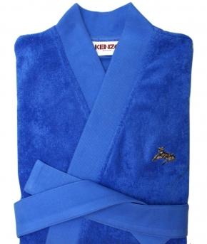 Халаты Одежда для бани и сауны Deluxe. Халат мужской кимоно (L; XL) Logo KZ Azur (Лого КЗ Азур) от Kenzo