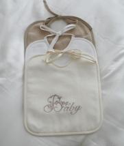 Текстиль для детей: полотенца, халаты, постельное бельё и др.. Нагрудник квадратный Baby лен от Catherine Denoual Maison