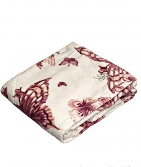 Халаты Одежда для бани и сауны Deluxe. Парео Celeste розово- бордовый с бабочками от Blumarine Art.78765-02