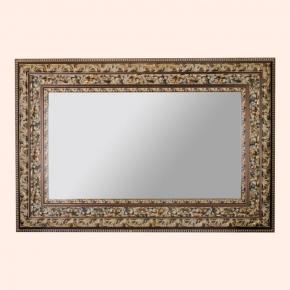 Зеркала для ванной. EBAN Зеркало KING 120х80см античное золото