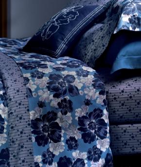 Постельное бельё Deluxe. Постельное белье семейное Au Chaud Saphir (Ошо Сапфир) (140х200 — 2шт) от Yves Delorme
